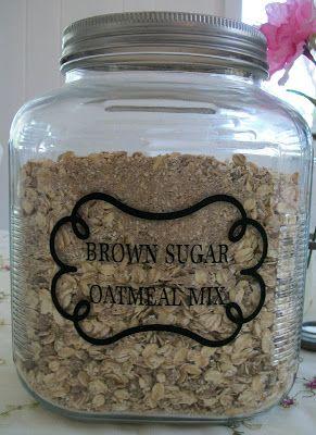 DIY  Maple Brown Sugar Oatmeal Mix