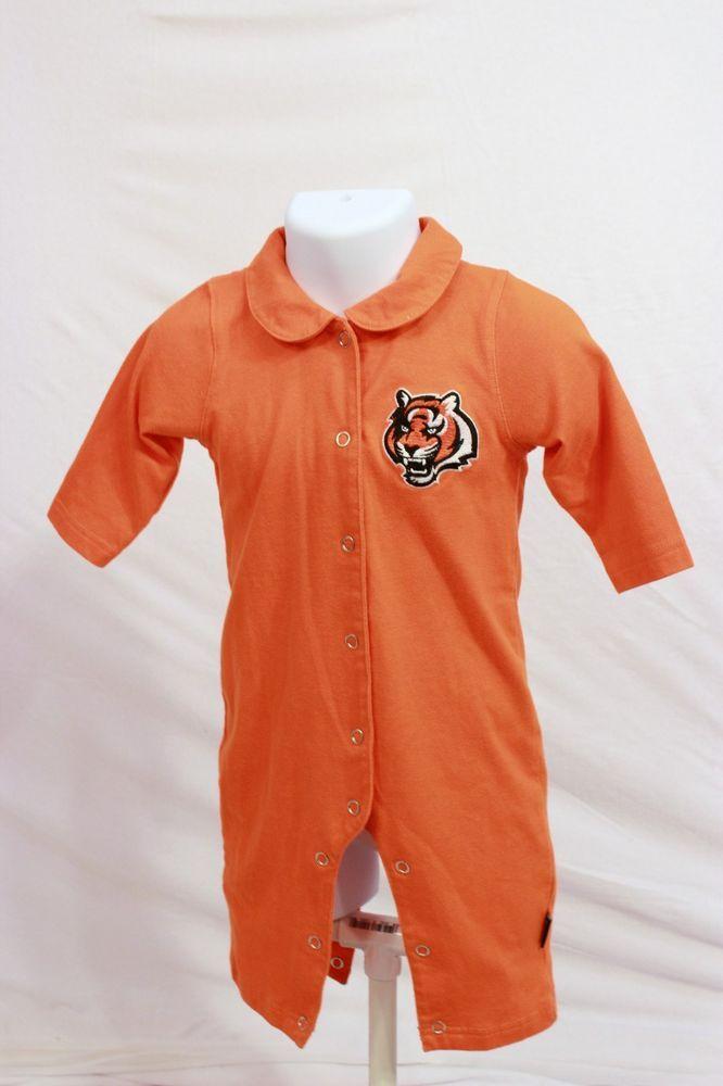 NFL Team Apparel Cincinnati BENGALS Long Sleeve Onesie 6/9 month Infant Orange  #NFL #EverydayHoliday