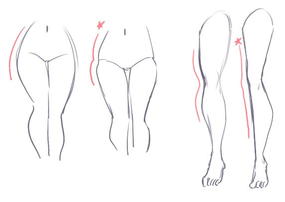 drawing legs and feet