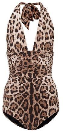 Dolce & Gabbana Leopard-printed swimsuit