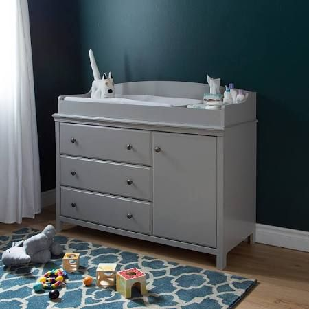 Images Of South Shore Cotton Candy Changing Table with Removable Changing Station Soft Gray South Shore Furniture Babies R Us