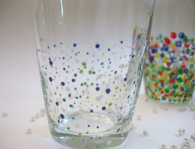 Don't Disturb This Groove: Confetti Painted Glasses