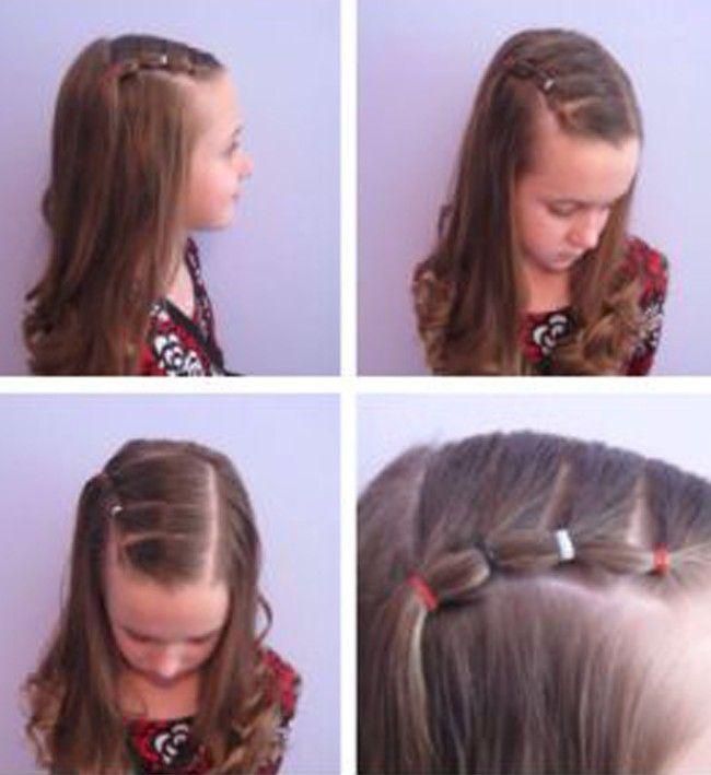 Los medios de los cabellos por las axilas