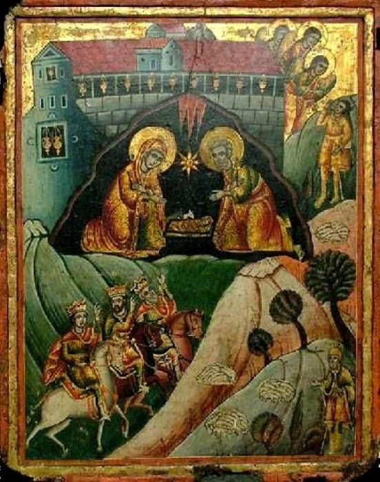 Псковская школа икона рождество христово