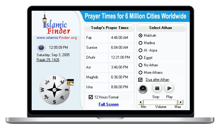 IslamicFinder: Accurate Prayer Times, Athan (Azan), Mosques (Masjids), Islamic Center, Muslim Owned Businesses, Hijri Calendar, Islamic Directory worldwide.