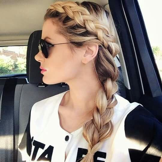 Side Dutch braid