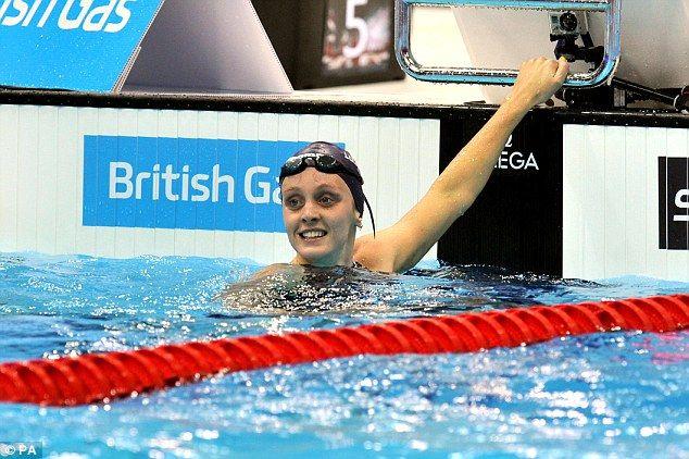 Fran Halsall at the British Gas Swimming Championships.