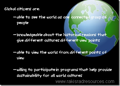 """What do you consider to be the traits of a global citizen?  Such a """"key word"""" these days."""