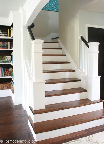 The 25 best redoing stairs ideas on pinterest redo for Ideas for redoing stairs