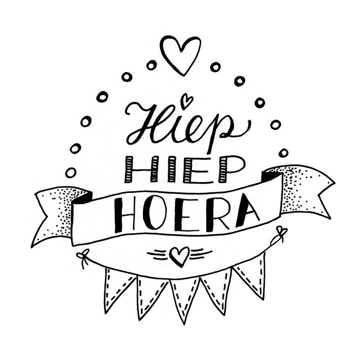 Er is er één jarig, hoera! #birthday #party #handlettering #lettering