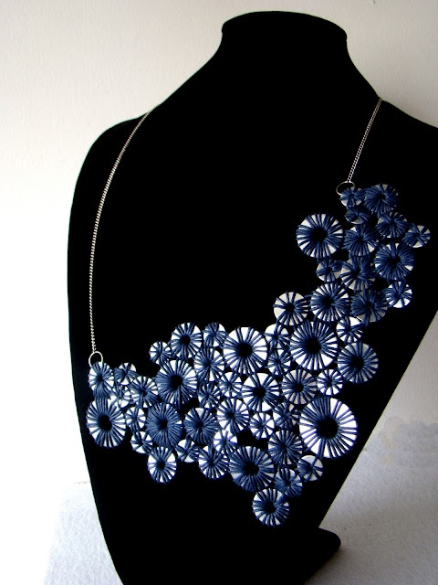 Aros Azul necklace. Unique handmade pieces by order. slobjects@gmail.com $65