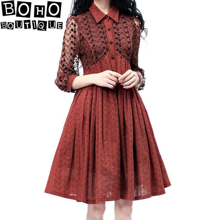 Платья : Платье с кружевным верхом и завышенной талией