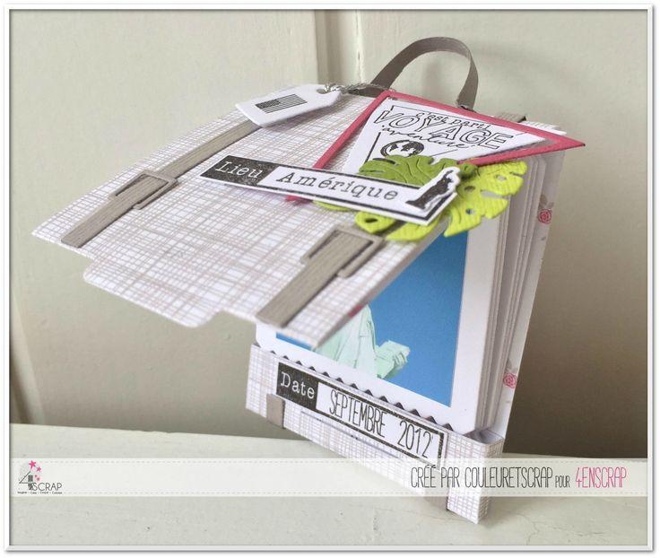 """Couleuretscrap : Tampons et matrices de coupe (dies) #4enSCRAP """"Mini pochette"""""""