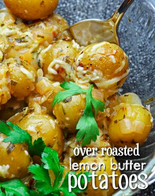 Lemon Butter Potatoes Recipe - Wanna Bite