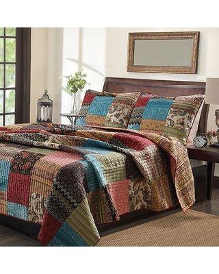 New Bohemian Cotton Patchwork Quilt Set (sham Separates) - Multi - Size King