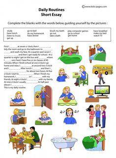 daily 5 | Kids Pages - Daily Routines - Short Essay. Ajuda na construção da primeira carta
