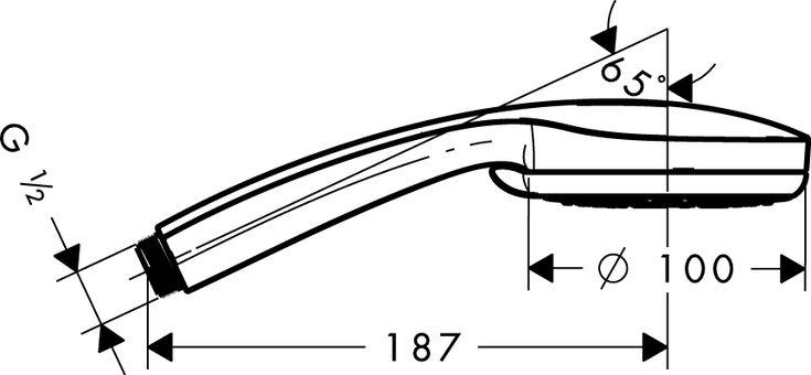 Hansgrohe Axor Croma 100 Vario - Teleducha de diseño para el baño   http://www.edenhogar.com/es/teleduchas/hansgrohe-croma-100-vario-teleducha-28535000-28537000.html