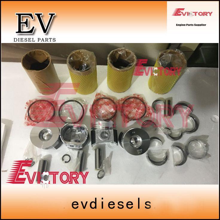 For Kubota V2403 V2403M engine rebuild kit piston+ring+liner+gasket+bearing+crankshaft+<font><b>con</b></font> rod