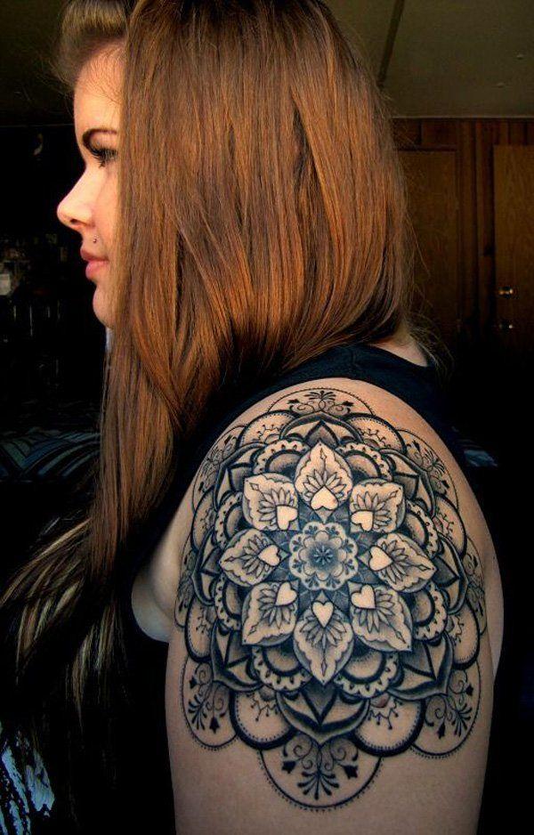 Mandala Quarter Tattoo - 40 Intricate Mandala Tattoo Designs  <3 <3