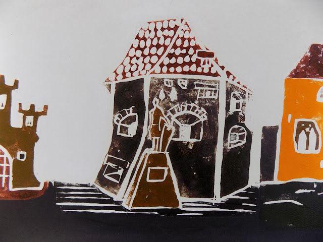 (un)intentional contemporary art in Transylvania: Linocuts and Transylvanian landmarks