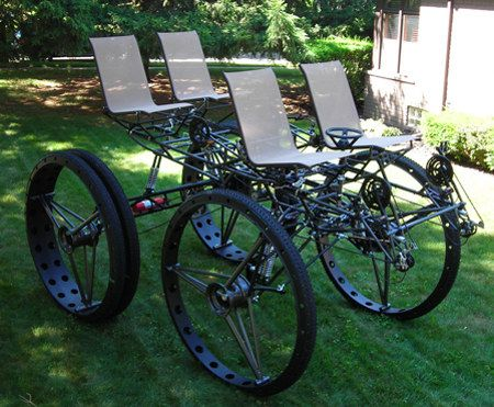 Homemade 4 Wheel Bicycle | This Ain't Your Grandma's ...