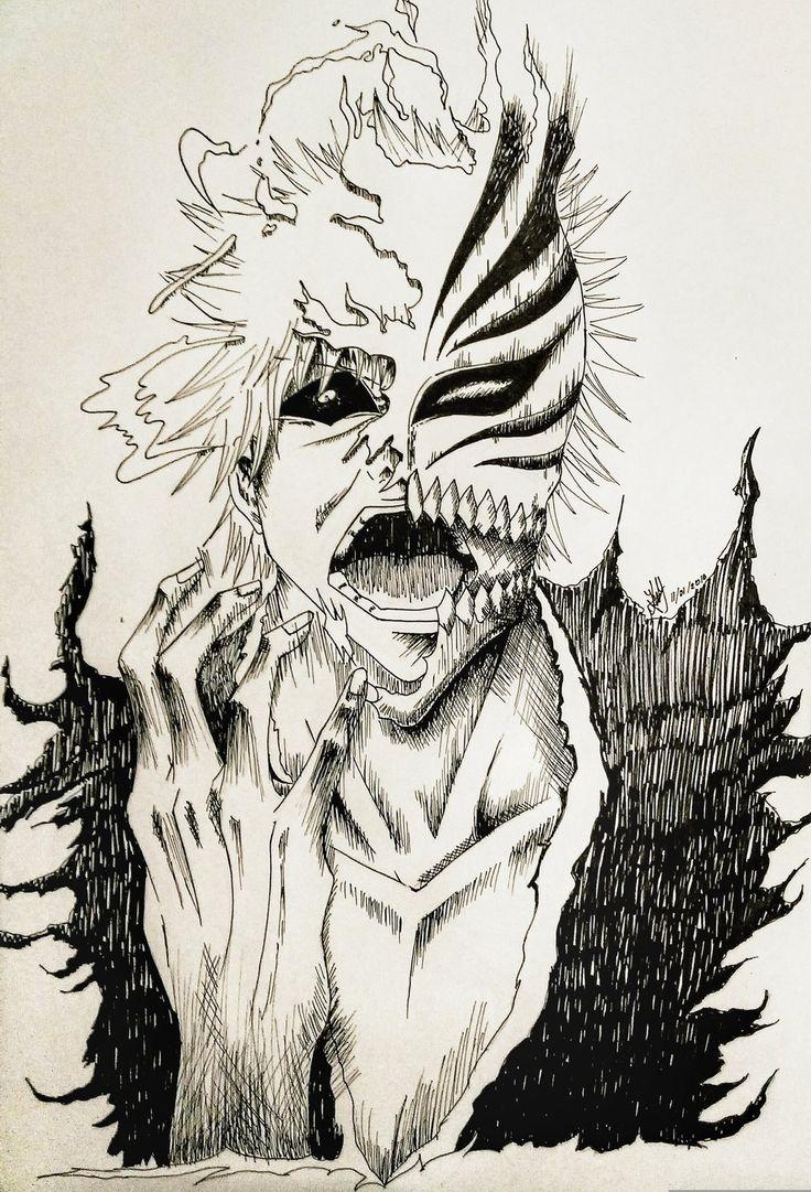 Kurosaki Ichigo Hollow by artmaker77.deviantart.com on @DeviantArt