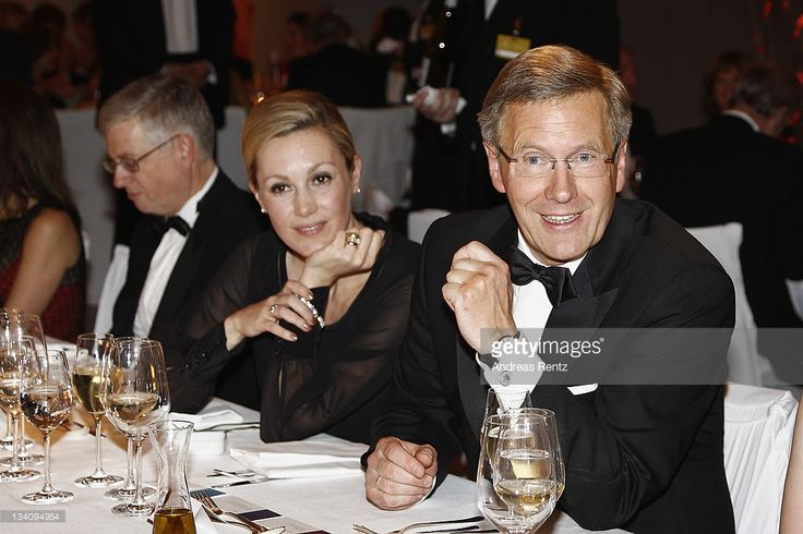 German President Christian Wulff and First Lady Bettina Wulff attend the Bundespresseball at Hotel Intercontinental on November 25, 2011 in Berlin, Germany.