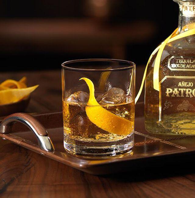 Enjoy Patrón Añejo Old Fashioned, a cocktail made with @Patrón Añejo.