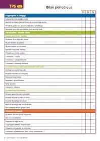 Livret d'évaluations TPS Livret d'évaluation pour l'année de TPS.