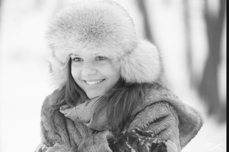 Winter Portrait Black & White