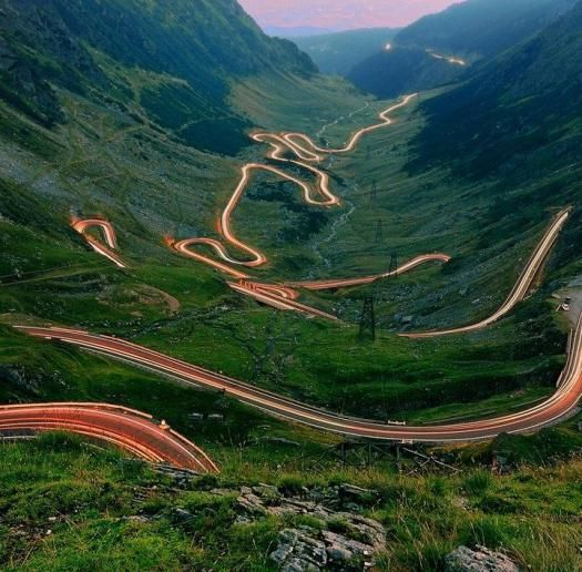 Carpathian Mountains: the Transfagarasan road built in the 1970's as strategic military road after the 1968 invasion of Czechoslovakia by the Soviet Union. In the Fargas mountains in the heart of  Romania, it connects Vallachia and Transylvania. uncredited photo.