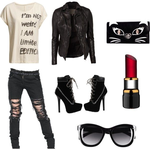 U0026quot;Pop Punku0026quot; by marcellinemarie on Polyvore | Fashion | Pinterest | Ouija Black aviators and ...