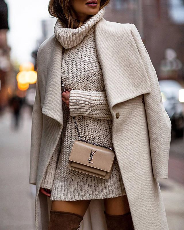 beige street fashion