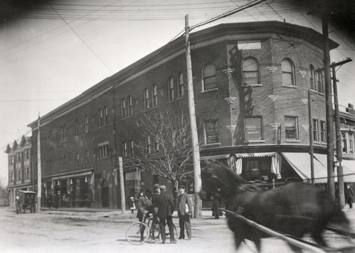 Playter's Society Hall, Danforth Avenue, southeast corner at Broadview Avenue, 1912
