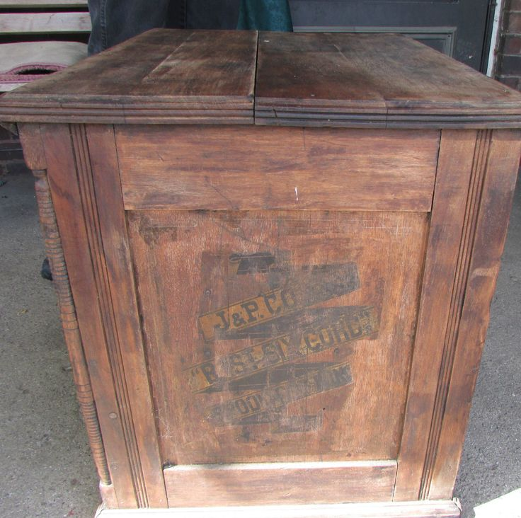 Vintage Antique J P Coats Sewing Cabinet Spool Cabinet Display ...
