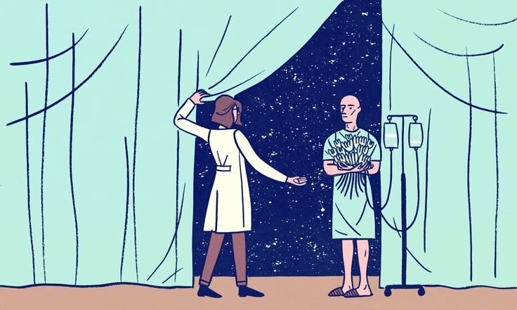 Death and Medical School - what doctors aren't learning about death - it's a natural and inevitable process. Illustration by Hannah K. Lee