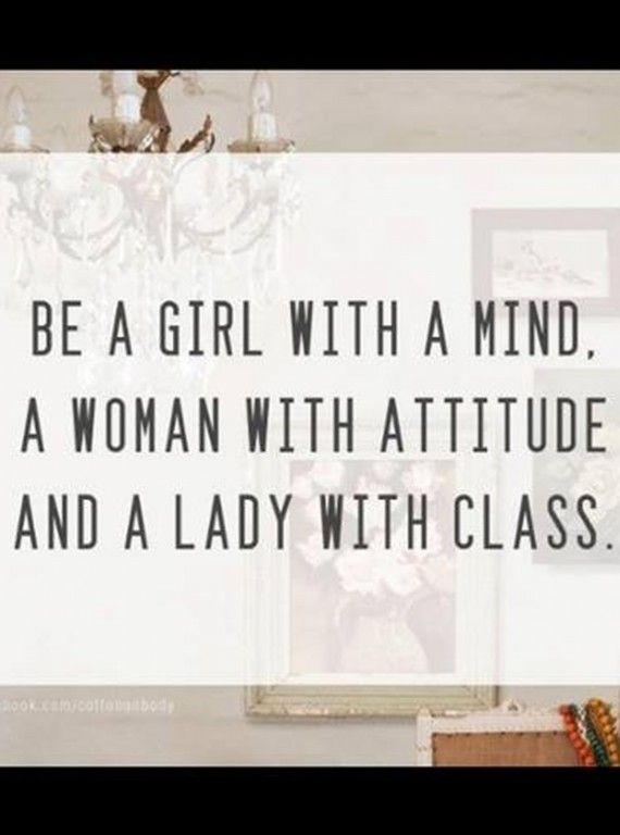 ... A lady with class