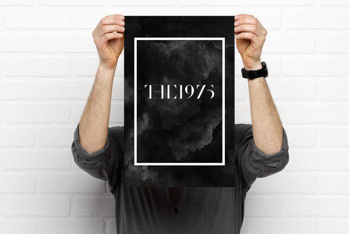 The 1975 Poster: Black
