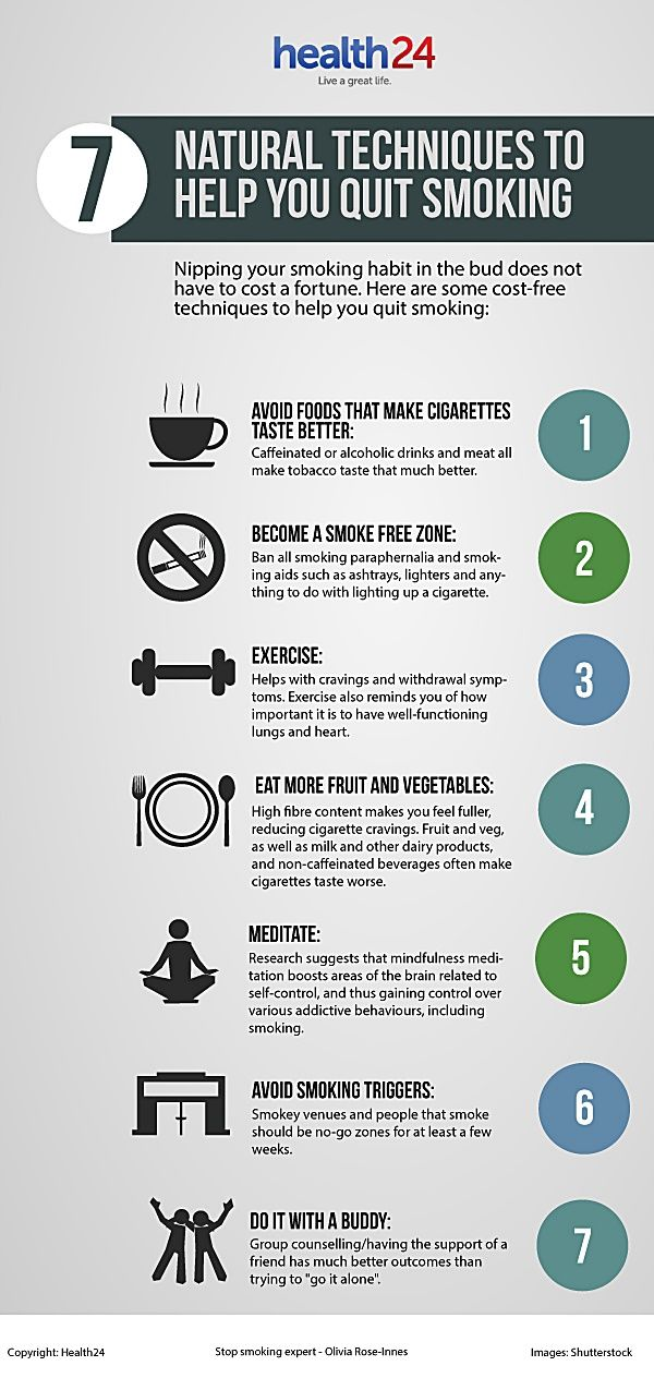 INFOGRAPHIC: 7 Natural Techniques to Help You Quit Smoking   www.health24.com
