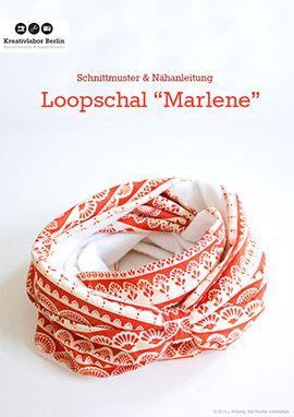 "Kostenloses Schnittmuster: Loopschal ""Marlene"" | Kreativlabor Berlin"