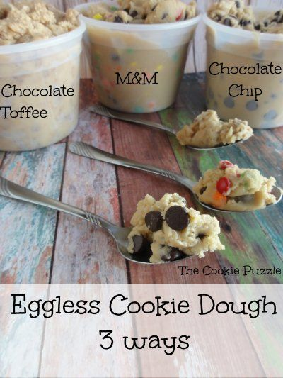 The Cookie Puzzle: Eggless Cookie Dough (3 ways)