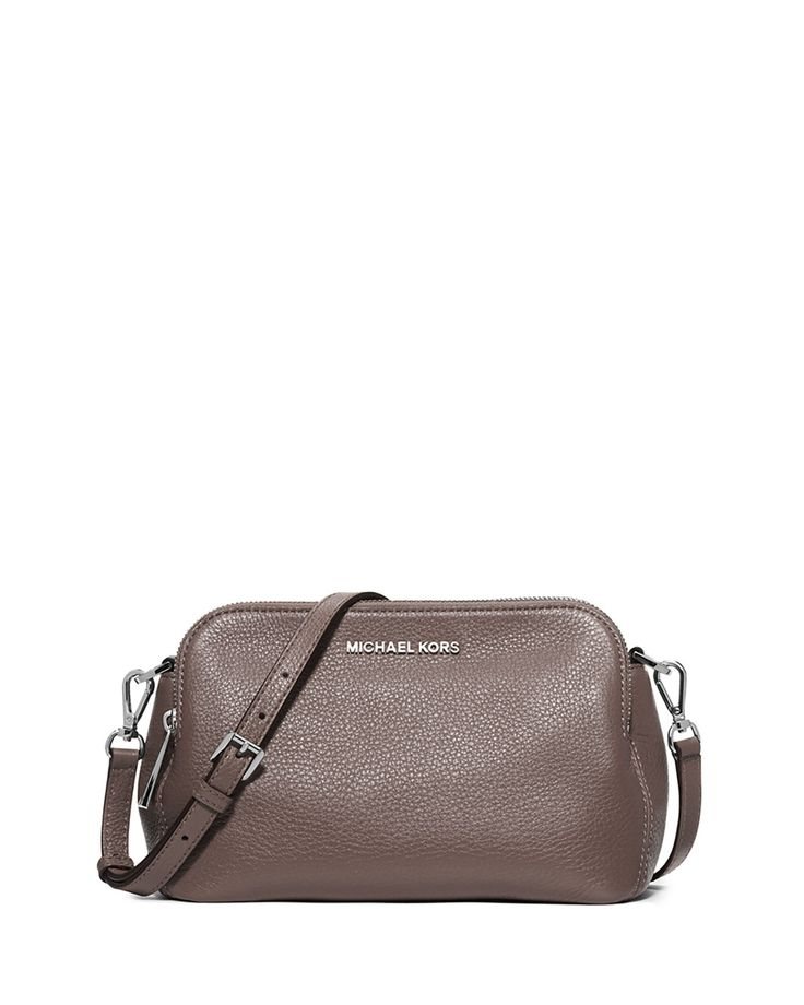 MICHAEL Michael Kors Bedford Medium Double-Zip Messenger Bag, Cinder