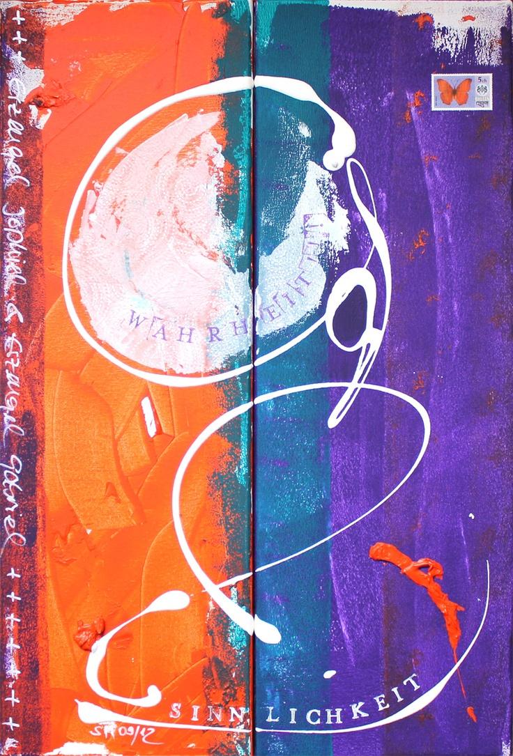Seelenbild: »Erzengel Jophiel & Erzengel Gabriel: Sinnlichkeit, Wahrheit, Größe, Schönheit, Selbstvertrauen, Berufung« (2 x 20 x 60 cm)    © Stefanie Marquetant