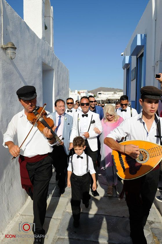 Traditional Greek Wedding Band - Oia, Santorini Greece