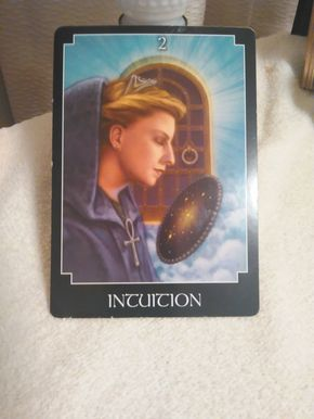 Intuition Good Morning everyone. The Intuition card came back to visit us again. When this card shows up in a reading, it's a clear message that it's time for us to use our intuition. W…