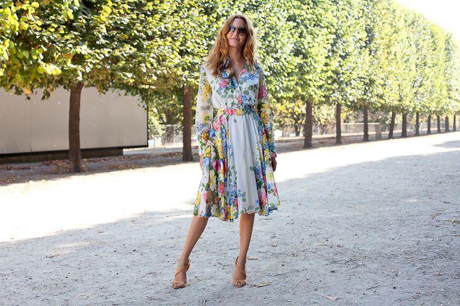 Les street-style de la fashion week, flower power | L'Officiel de la mode