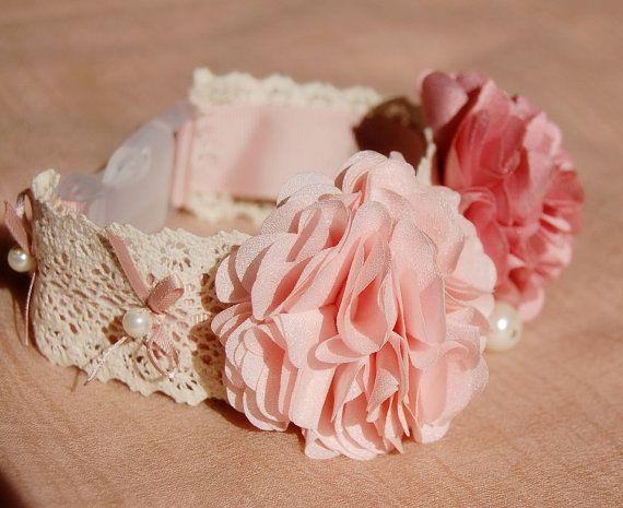 Original diseño suave color rosa con collar de por YOYOPETFASHION