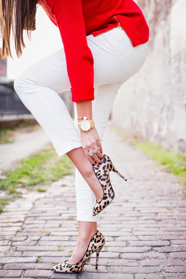 A Southern Drawl. Red, white and leopard