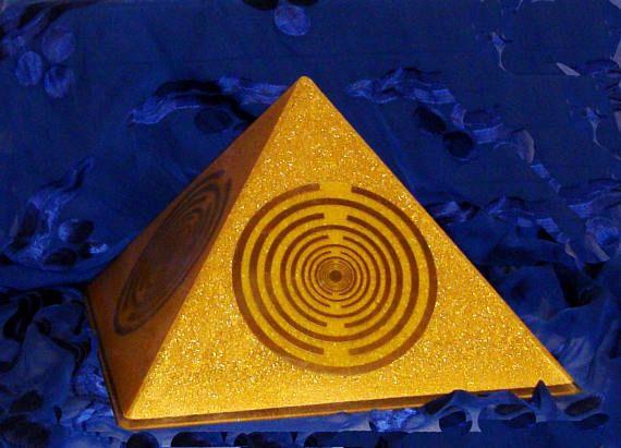 Orgone orgonite® all-powerful golden pyramid Orgonite®