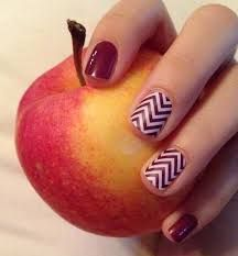 Jamberry Boysenberry Chevron paired with Jamberry Boysenberry jamminnailswithlori.jamberrynails.net